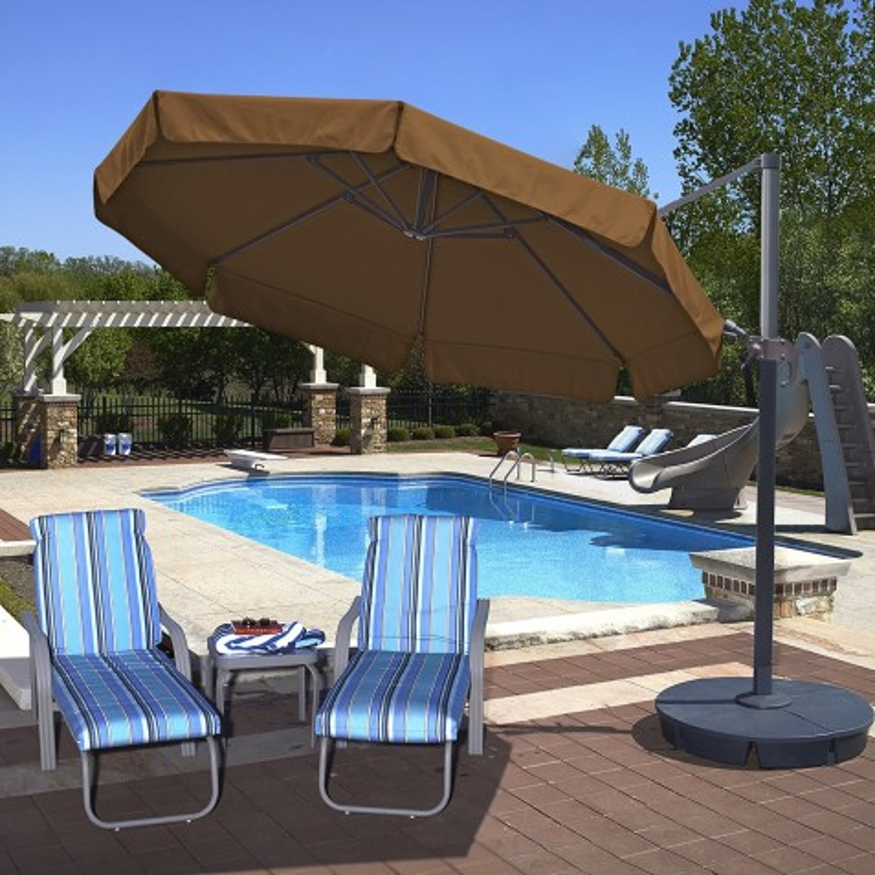 Blue Wave Freeport 11ft Octagon Cantilever w/ Valance - Stone Sunbrella Acrylic (NU6555)