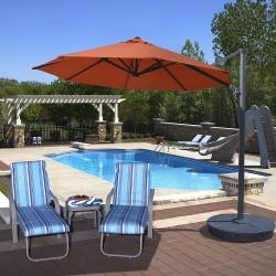 Blue Wave Freeport 11-ft Octagon Cantilever - Terra Cotta Sunbrella Acrylic (NU6590)