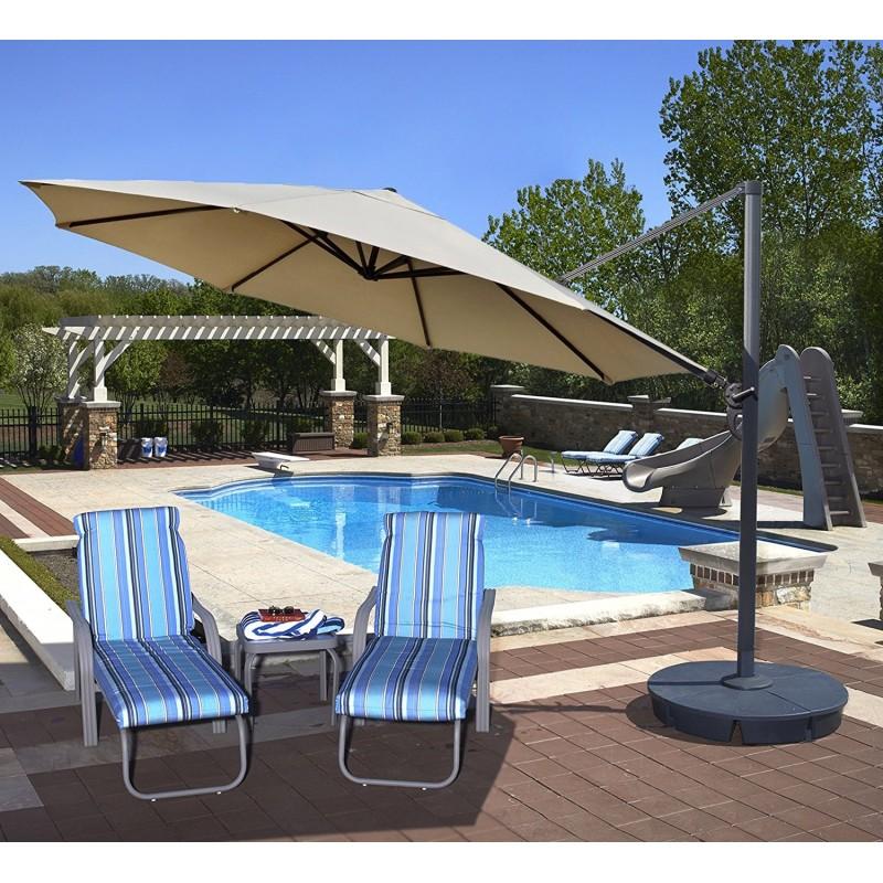 Blue Wave Victoria 13-ft Octagon Cantilever - Beige Sunbrella Acrylic (NU6745)