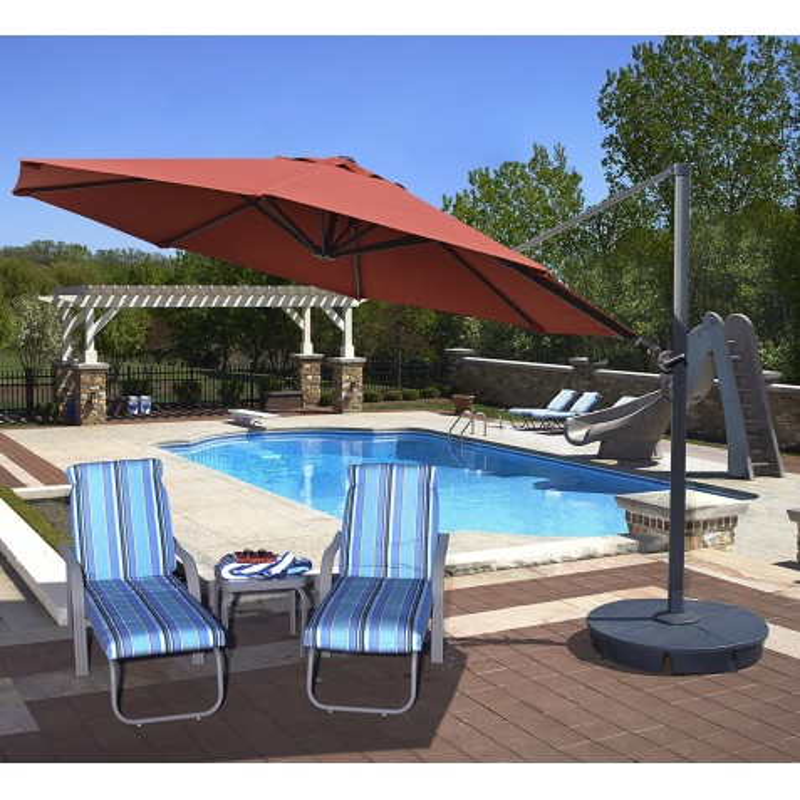 Blue Wave Victoria 13-ft Octagon Cantilever - Terra Cotta Sunbrella Acrylic (NU6750)