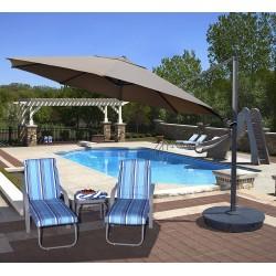 Blue Wave Victoria 13-ft Octagon Cantilever - Stone Sunbrella Acrylic (NU6755)