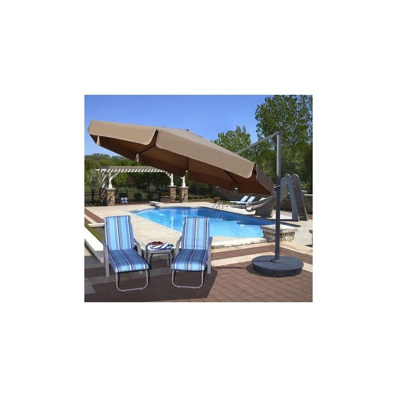 Blue Wave Victoria 13-ft Octagon Cantilever w/ Valance- Beige Sunbrella Acrylic (NU6775)
