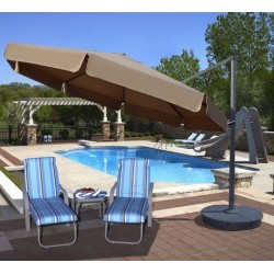 Blue Wave Victoria 13-ft Octagon Cantilever w/ Valance- Stone Sunbrella Acrylic (NU6785)