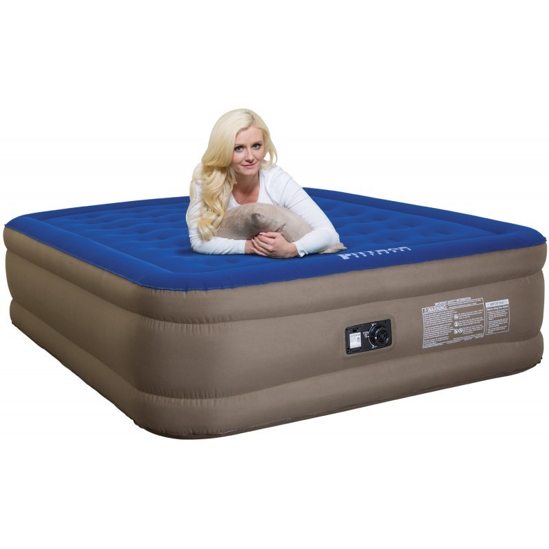"""AirBedz Fullsize 8' Long Bed (95""""x63.5""""x12"""") With Built-in Rechargeable Battery Air Pump (PPI-101)"""