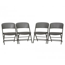 Lifetime 4-Pack Padded Commercial Folding Chairs - Putty (480426)