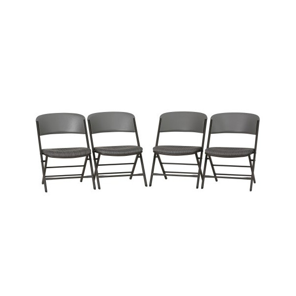 Lifetime 4 Pack Padded mercial Folding Chairs Putty