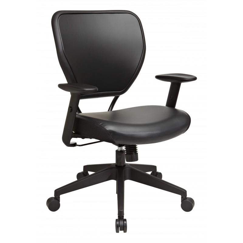 Space Seating Black Vinyl over AirGrid Back Chair (5500V)