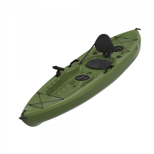 Lifetime tamarack olive muskie angler 10 foot sit on top for Best sit on top fishing kayak