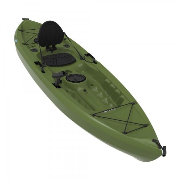 Lifetime tamarack olive muskie angler 10 foot sit on top for 10 fishing kayak