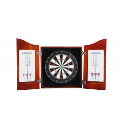 Centerpoint Solid Wood Dartboard & Cabinet Set - Cherry Finish (NG1041CH)