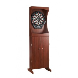 Outlaw Free Standing Dartboard & Cabinet Set - Cherry Finish (NG1040)