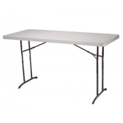 Lifetime 6 ft. Commercial Adjustable Height Folding Table (Almond) 22920