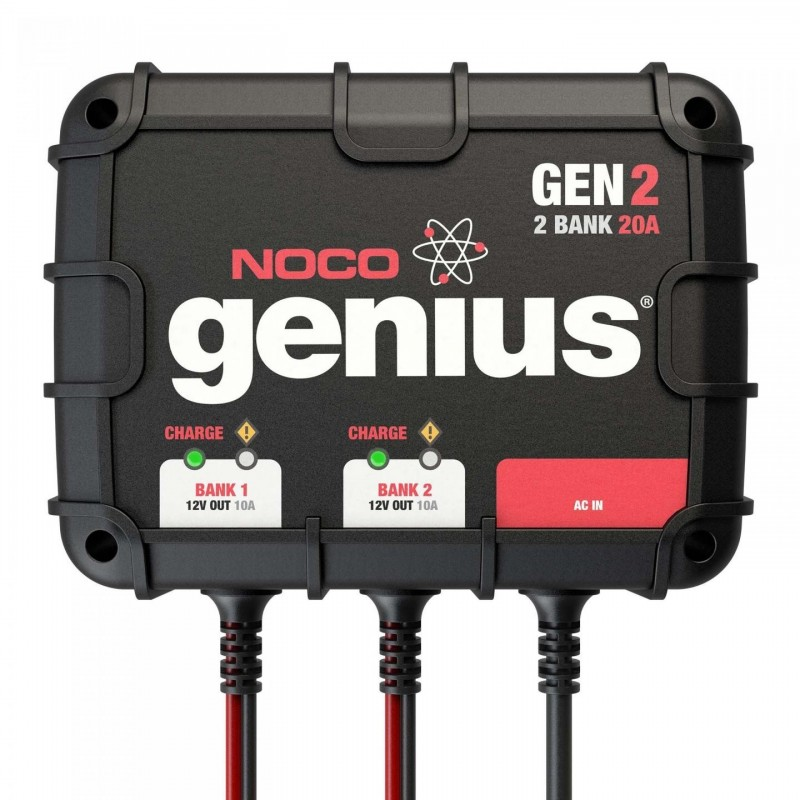 NOCO Company 2-Bank 20 Amp On-Board Battery Charger (GEN2)