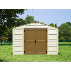 DuraMax 10x8 Woodbridge Plus Vinyl Shed Kit w/ Foundation (40214)