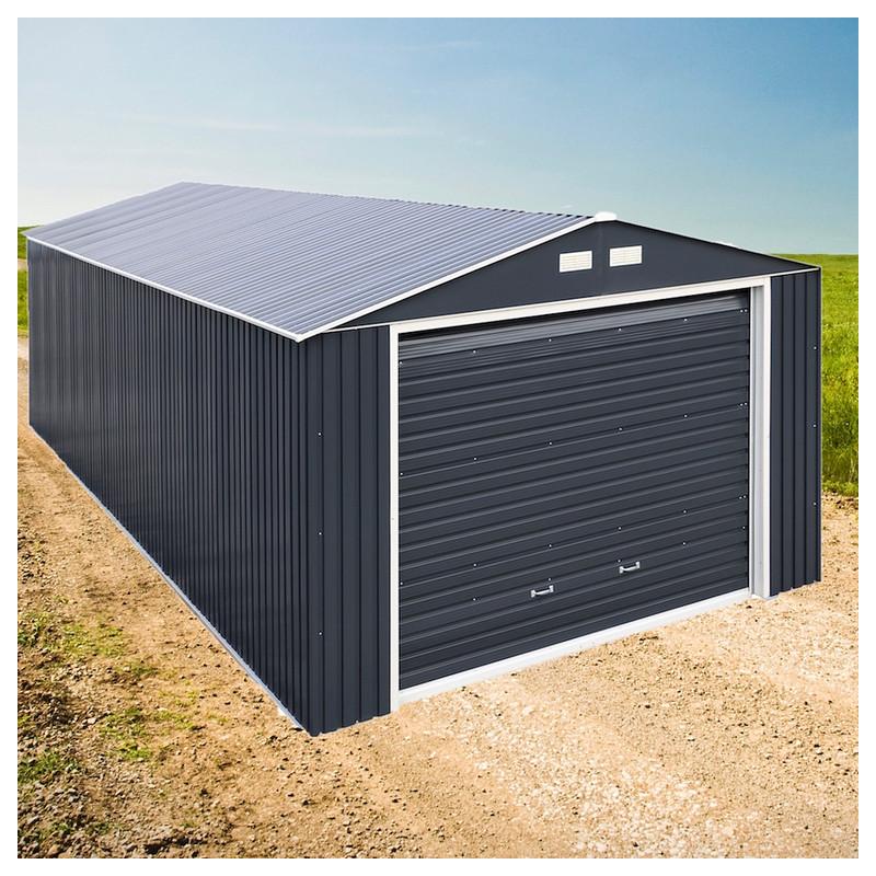 DuraMax 12x38 Imperial Steel Storage Garage Kit - Gray (54961)