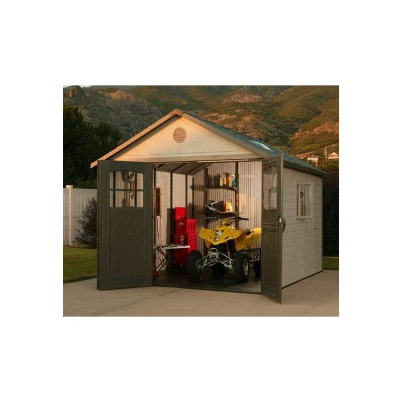 Lifetime 11x16 ft Storage Shed Kit with Tri-Fold Doors (60187/20125)