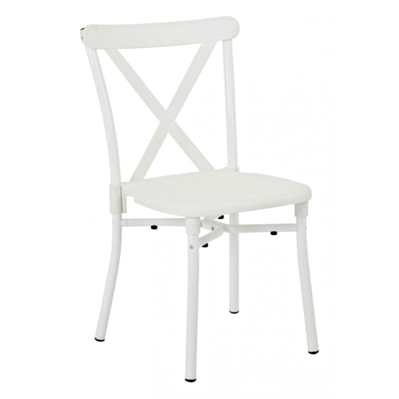 Work Smart 13-Pack X-Back Guest Stacking Chair - White (STX8310AC13-11)