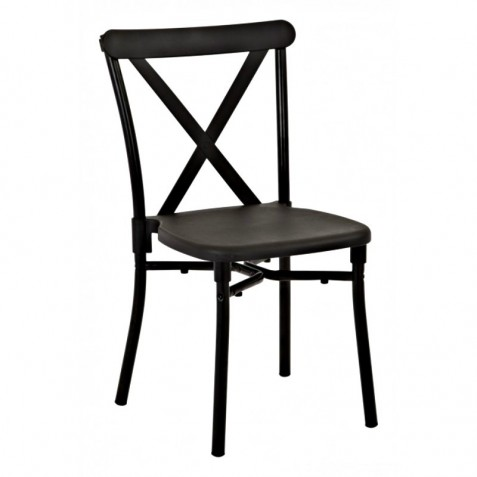 Work Smart 13-Pack X-Back Guest Stacking Chair - Black (STX8310AC13-3)