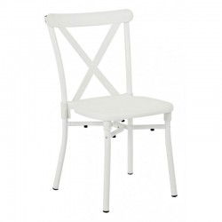 Work Smart 2-Pack X-Back Guest Stacking Chair - White (STX8310AC2-11)