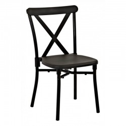 Work Smart 4-Pack X-Back Guest Stacking Chair - Black (STX8310AC4-3)