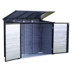 Arrow 6x3 Versa-Shed Locking Horizontal Storage Shelter - Onyx (EVRS53)