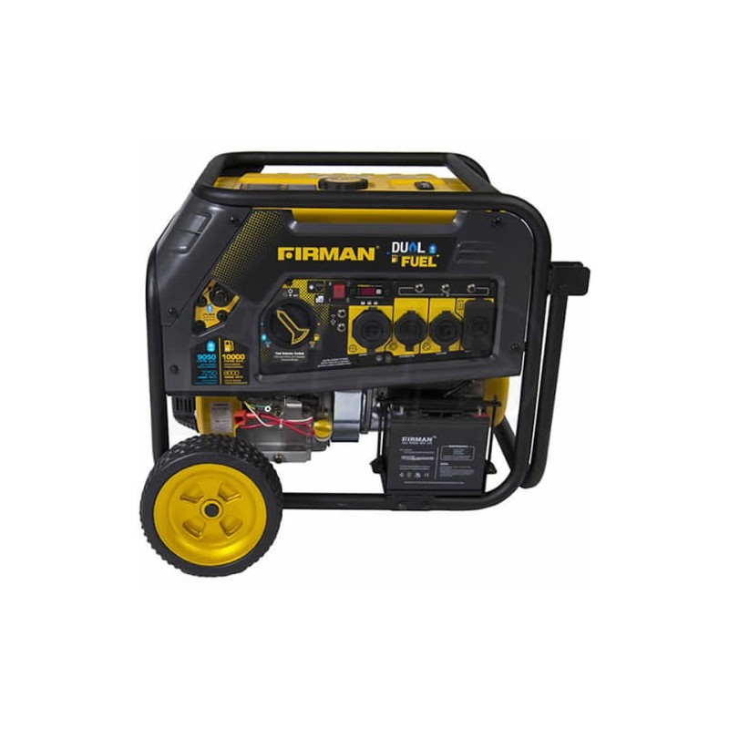 Firman Hybrid Series 8000/10000 Watt Duel Fuel Electric Generator with Electric Start (H08051)