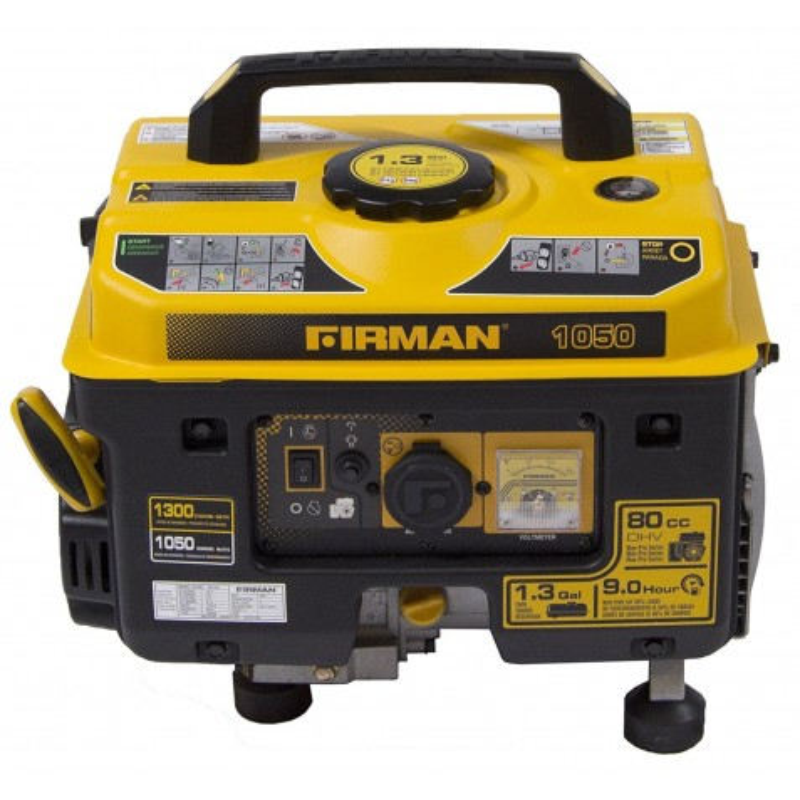 Firman Performance Series Gas Powered 1050/1350  Watt Portable Generator (P01001)