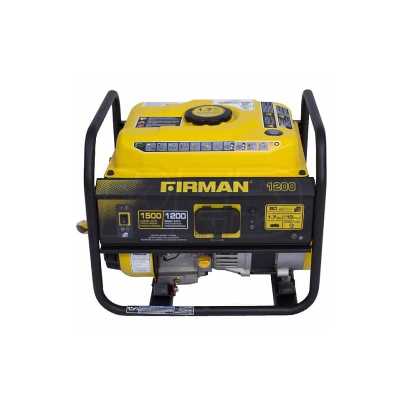 Firman Gas Powdered 1200/1500 Watt Extended Run Time Portable Generator (P01201)