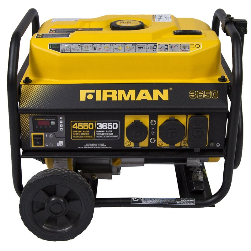 Firman Power Equipment Gas Powered 3650/4550 Watt Extended Run Time Portable Generator (P03602)