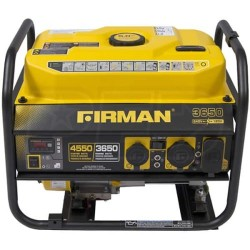 Firman Power Equipment Gas Powered 3650/4550 Watt Extended Run Time Portable Generator (P03608)