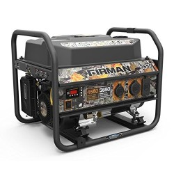 Firman Power Equipment Gas Powered 3650/4550 Watt Extended Run Time Portable Generator (P03609)