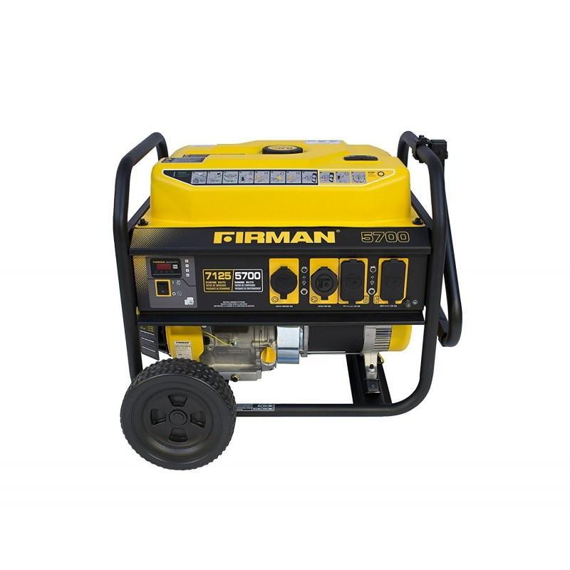 Firman Power Equipment Gas Powered 5700/7125 Watts Extended Run Time Portable Generator (P05701)