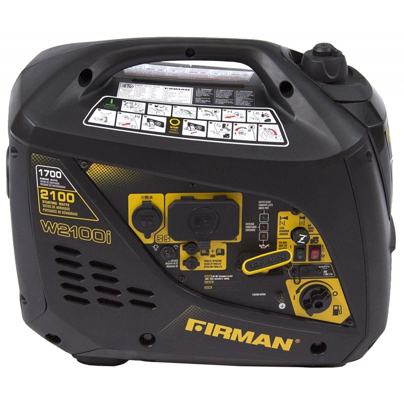 Firman Power Equipment Gas Powered 1700/2100 Watts Extended Run Time Portable Generator (W01781)