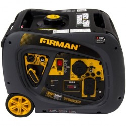 Firman Power Equipment Whisper Series 3000/3300 Watts Gas Portable Inverter Generator with Electric Start (W03082)