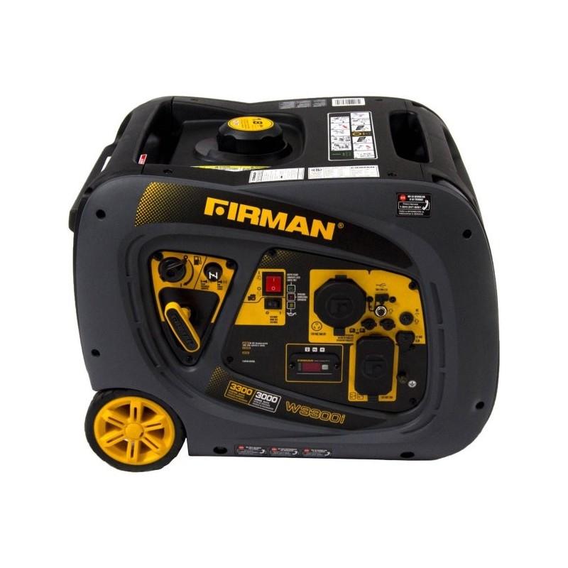 Firman Power Equipment Whisper Series 3000/3300 Watts Gas Portable Inverter Generator with Electric Start (W03082)