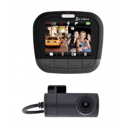 Cobra Dual Channel Dash Cam for Double the Protection w/ Front & Rear Cameras (CDR895D)