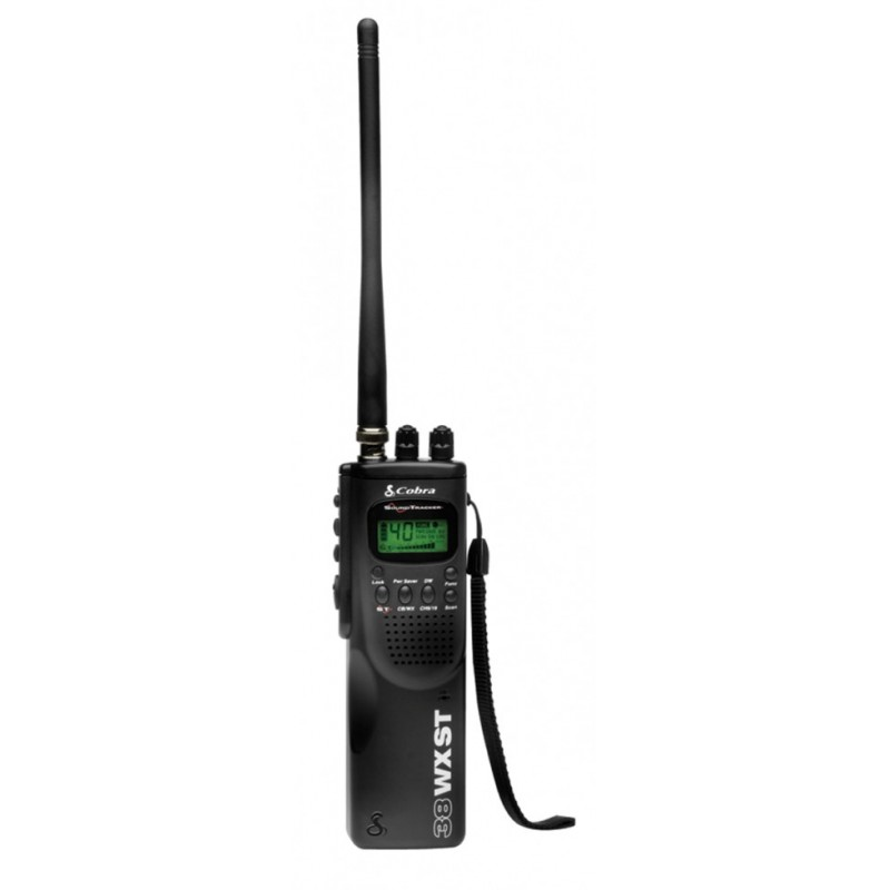 Cobra Hand Held 40 Channel CB Radio with 10 Weather Channels and SoundTracker Noise Reduction (HH 38 WX ST)
