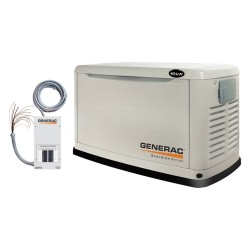 Generac Guardian Series 10 kW 120/240V Air-Cooled Single Phase Steel Residential Generator w/ EZ Transfer Switch (5871)