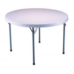 Lifetime 46 in. Commercial Round Plastic Folding Table (White) 22960