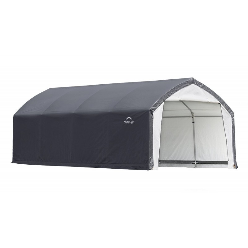 Shelter Logic 12x20x9 Accela Frame HD Shelter Canopy Kit - Gray/White (70922)