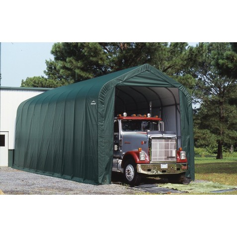 Shelter Logic 16x40x16 Shelter Coat Peak Style Portable RV Garage Kit - Green (95844)