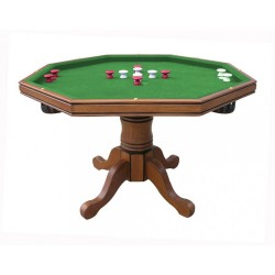 Antique Dark Oak Poker Table Only (NG2351T)
