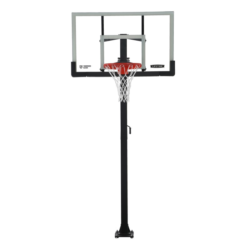 Lifetime 54 Inch In-Ground Basketball Hoop Steel-Framed Shatterproof, Powerlift (90568)