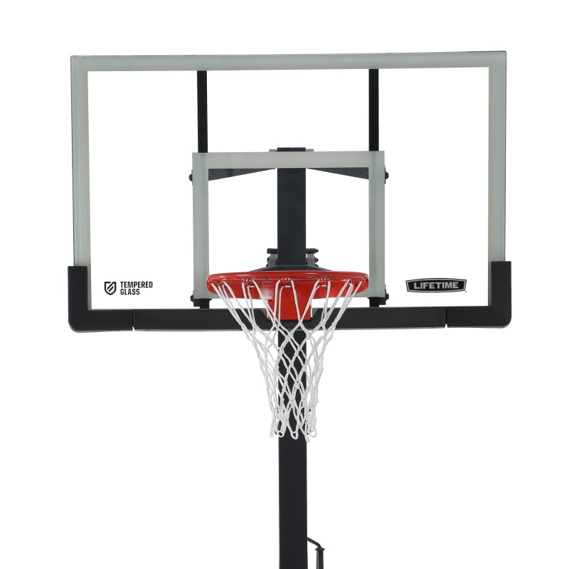 Lifetime 54 Inch In-Ground Basketball Hoop Steel-Framed Shatterproof, Powerlift (90568)