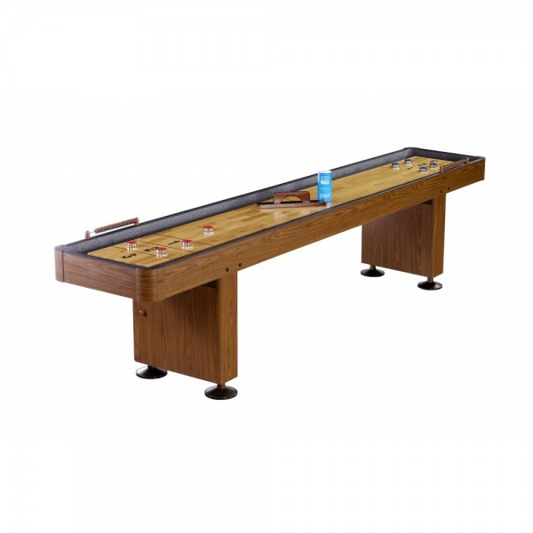 Challenger 12 ft shuffleboard table walnut finish ng1212 for 12 foot shuffle board table