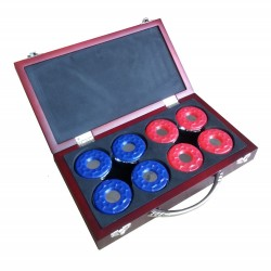 Shuffleboard Pucks W/ Case - Set Of 8 (NG1223)