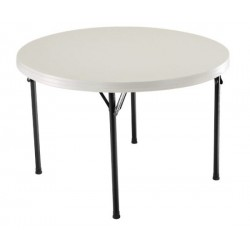 Lifetime 46 in. Commercial Round Plastic Folding Table (Almond) 22968