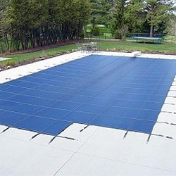 Blue Wave Arctic Armor 16x34 20-Year Super Mesh In-Ground Pool Safety Cover w/ Center End Step - Blue (WS722BU)