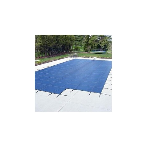 Blue Wave Arctic Armor 16x38 20-Year Super Mesh In-Ground Pool Safety Cover w/ Center End Step - Blue (WS732BU)