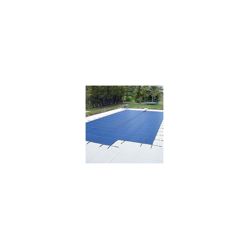 Blue Wave Arctic Armor 16x40 20-Year Super Mesh In-Ground Pool Safety Cover w/ Center End Step - Blue (WS737BU)